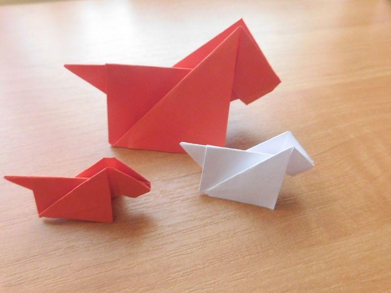 Собачка в технике оригами: пошаговая схема и описание