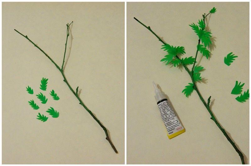Поделка ко Дню валентина: дерево с сердцечками для украшения интерьера