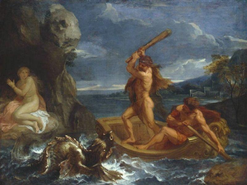 Геракл спасает Гесиону, дочь Лаомедонта,