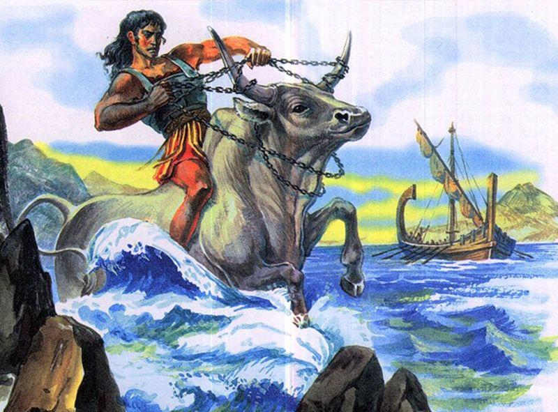Подвиги Геракла, 7 подвиг, критский бык