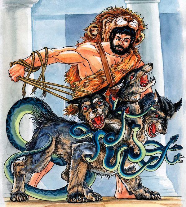 Лернейская  гидра и Геракл