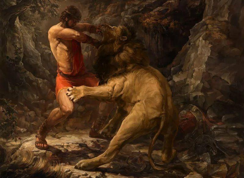Немейский лев и Геракл