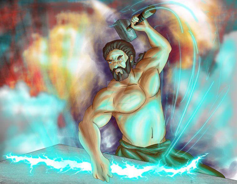 Гефест, бог огня, миф