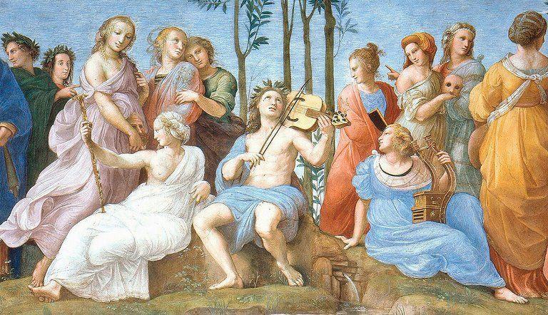 Аполлон и музы, миф