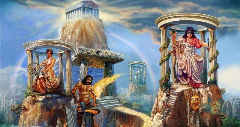Олимп из греческой мифологии