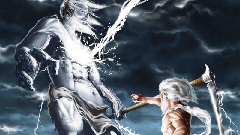 Зевс свергает Крона, древнегреческий миф