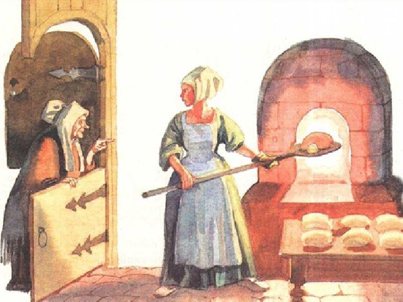 Дочка пекаря, английская сказка