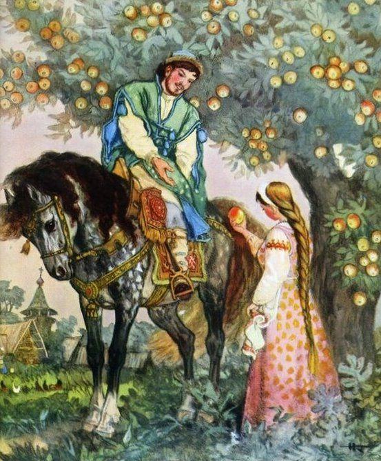 Сказка о молодильных яблоках и живой воде
