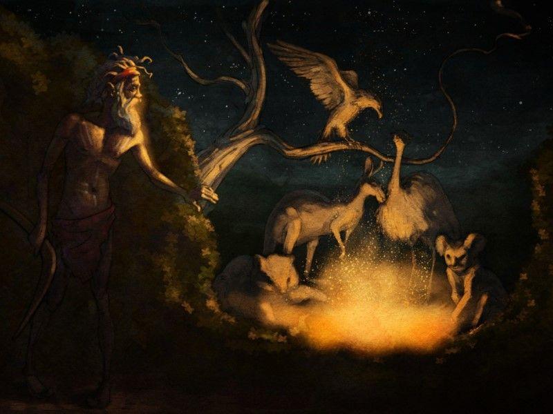 Как появился огонь: австралийская народная сказка
