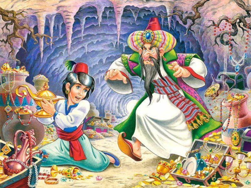 Волшебная лампа Алладина, Арабская сказка