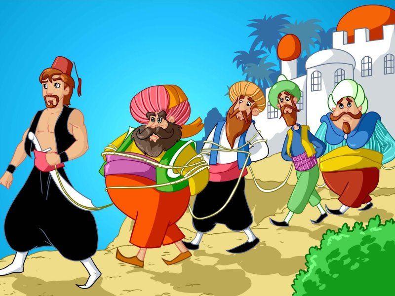 Али-Баба и 40 разбойников, Арабская народная сказка