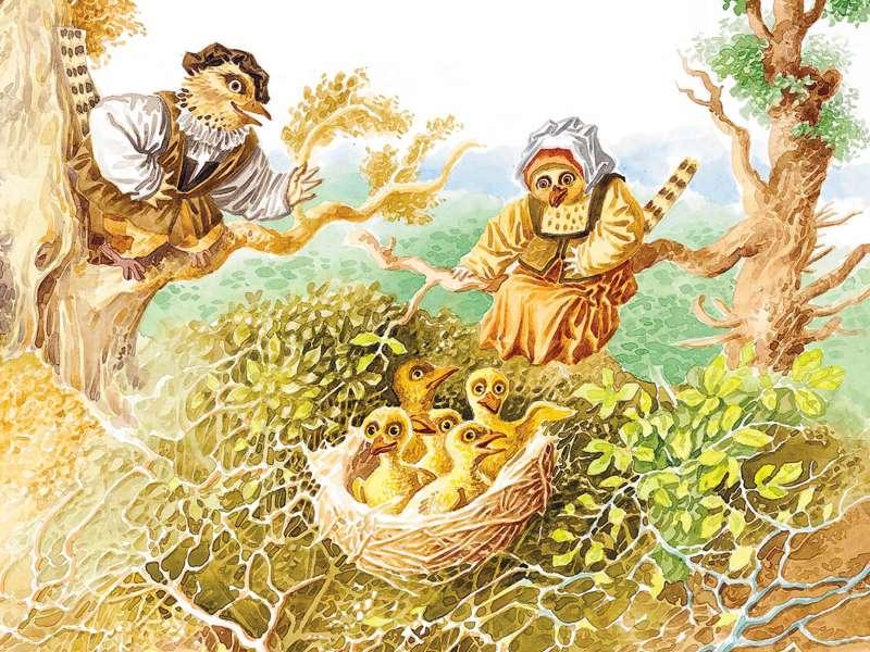 Королёк и медведь Немецкая сказка в пересказе