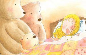 Златовласка и три медведя, сказка на английском