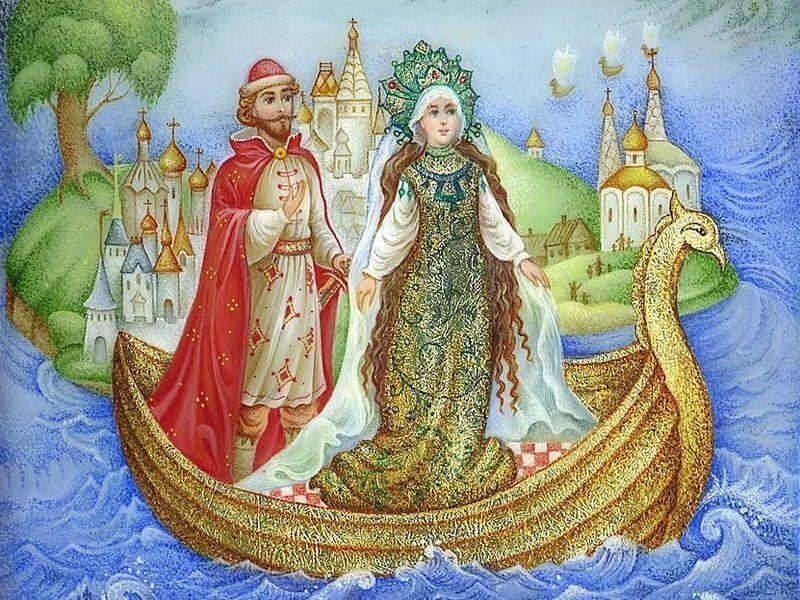 Царь-девица русская сказка