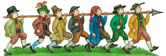 Семеро храбрецов: сказка братьев Гримм