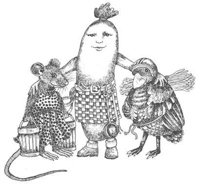 О мышке, птичке и колбаске: сказка братьев Гримм