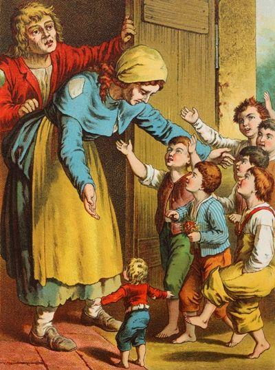 Мальчик-с-пальчик: сказка братьев Гримм