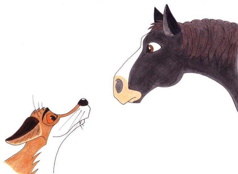 Лиса и лошадь: сказка братьев Гримм