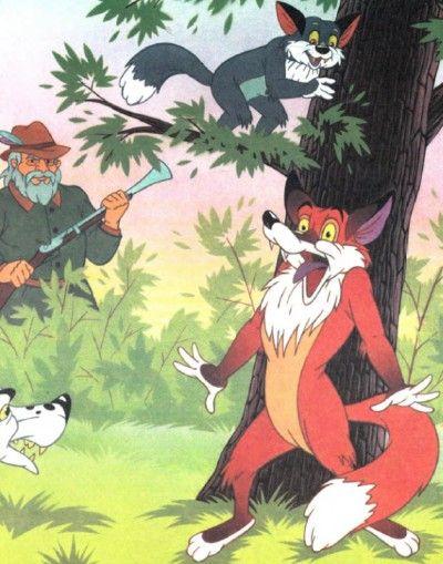 Лиса и кот, сказка Гримм