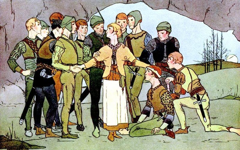 Двенадцать охотников: сказка братьев Гримм