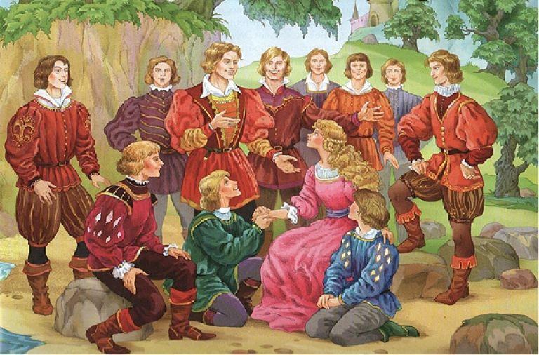 Двенадцать братьев: сказка братьев Гримм