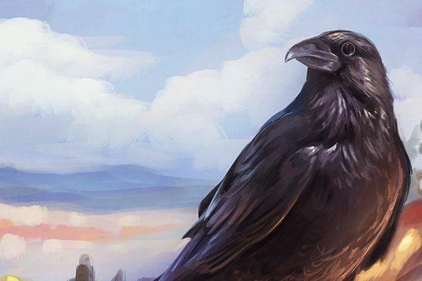 Ворона: сказка братьев Гримм