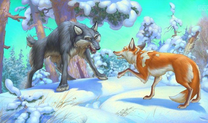 Волк и человек: сказка братьев Гримм