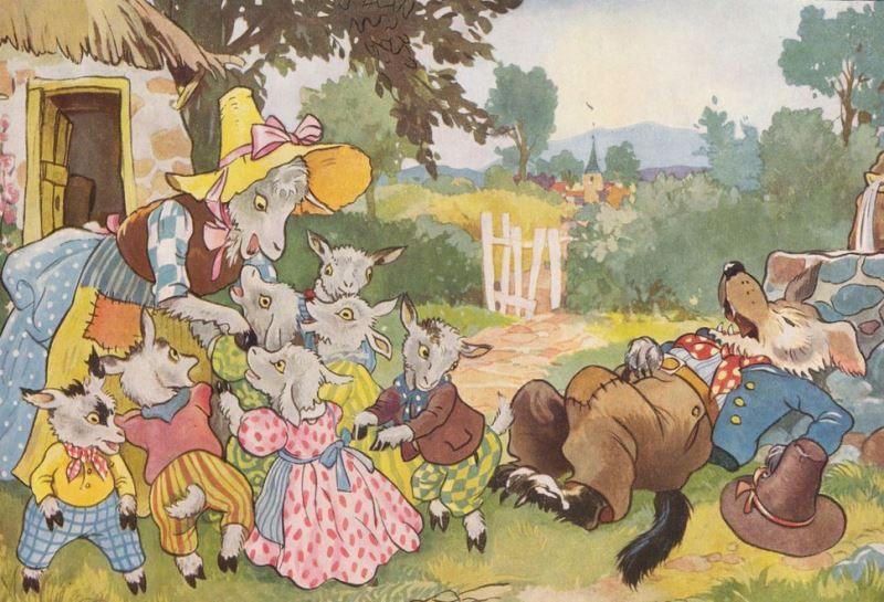 Волк и семеро козлят: сказка братьев Гримм