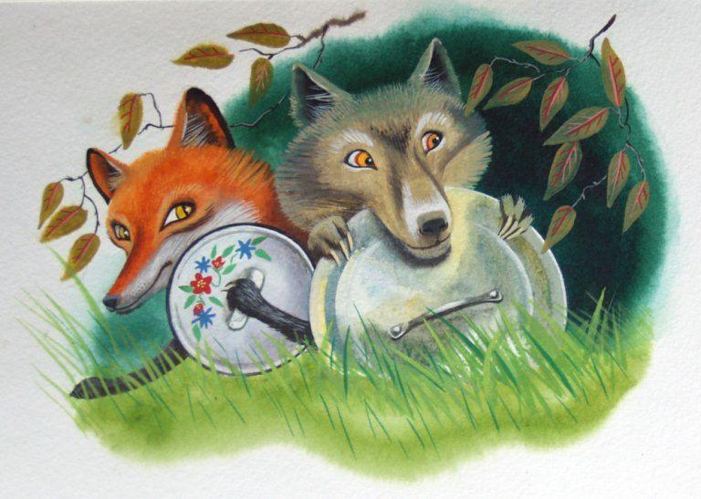 Волк и лиса: сказка братьев Гримм