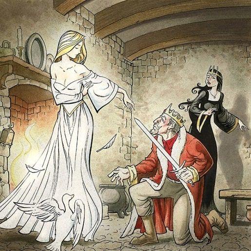 Белая и черная невеста: сказка братьев Гримм