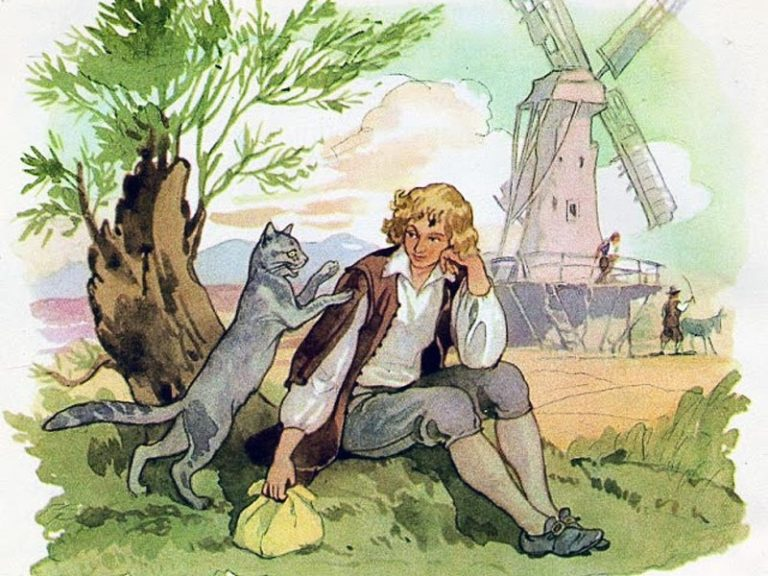 Бедный работник с мельницы и кошечка: сказка братьев Гримм