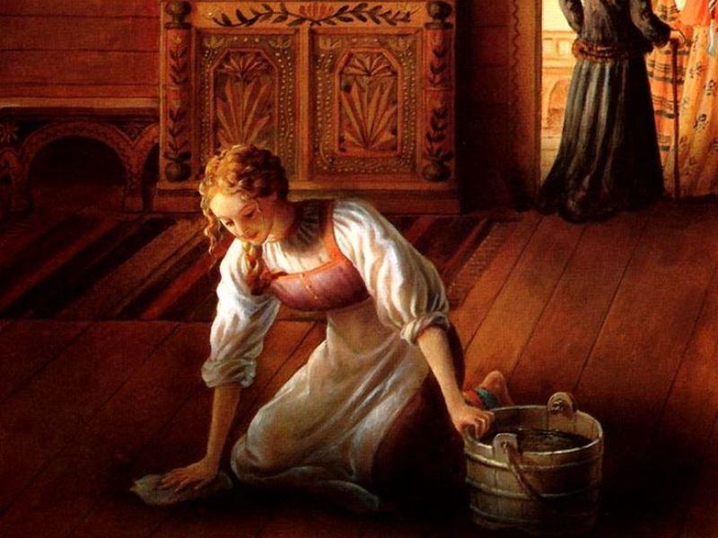 Купеческая дочь и служанка - русская сказка