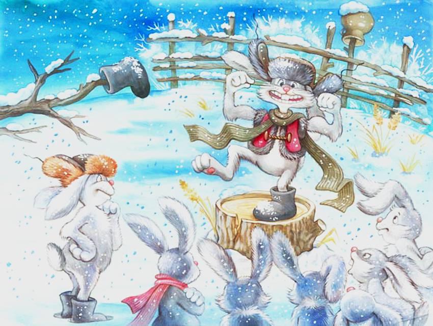 Сказка про зайца-хвасту