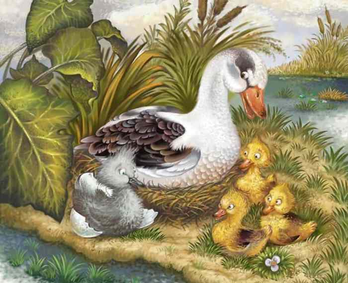 Гадкий утёнок: сказка Г.Х.Андерсена
