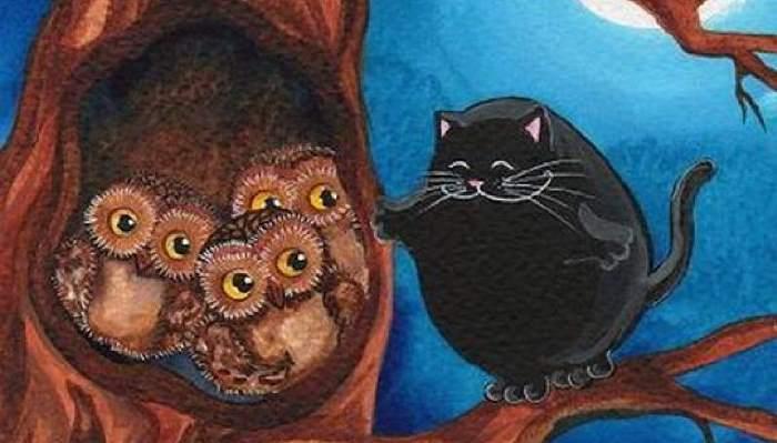 Сова и кот: сказка А.Н.Толстого