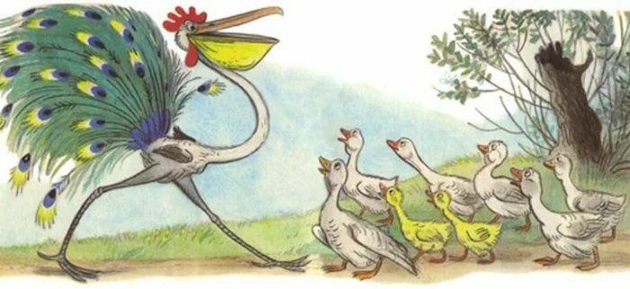 Это что за птица: сказка Владимира Сутеева