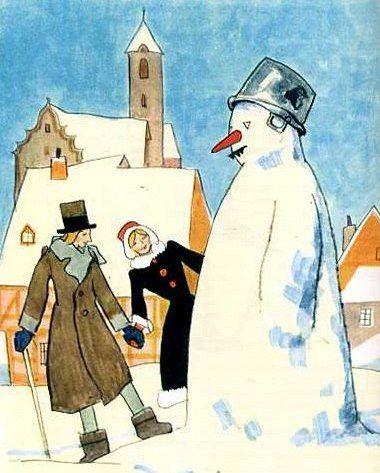 Снеговик сказка Андерсена
