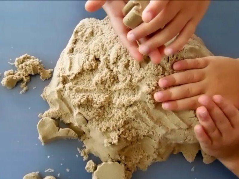 Кинетический песок Kinetic Sand – творим сами и вместе с мамой