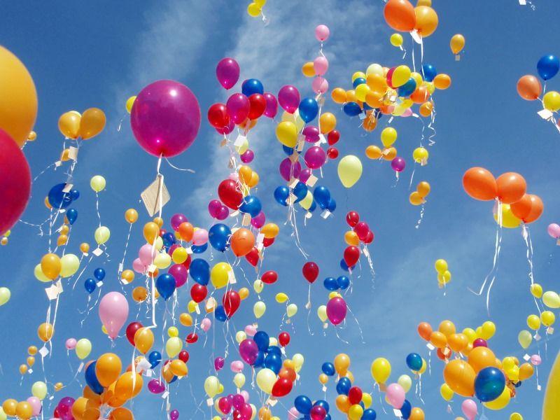 Поздравление шарами в День рождения