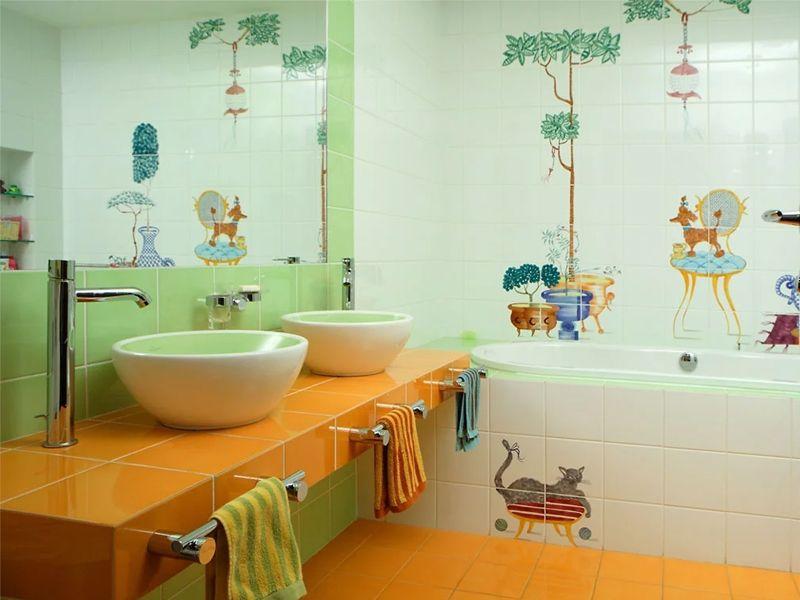 Особенности детской ванной комнаты