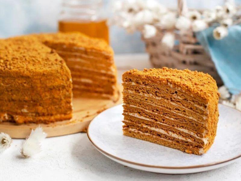 Медовое пирожное для детей от 3 лет