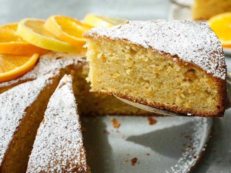Апельсиновый пирог с миндалем
