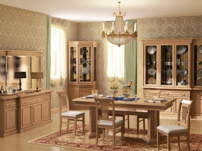 Очарование мебели из дубовой древесины