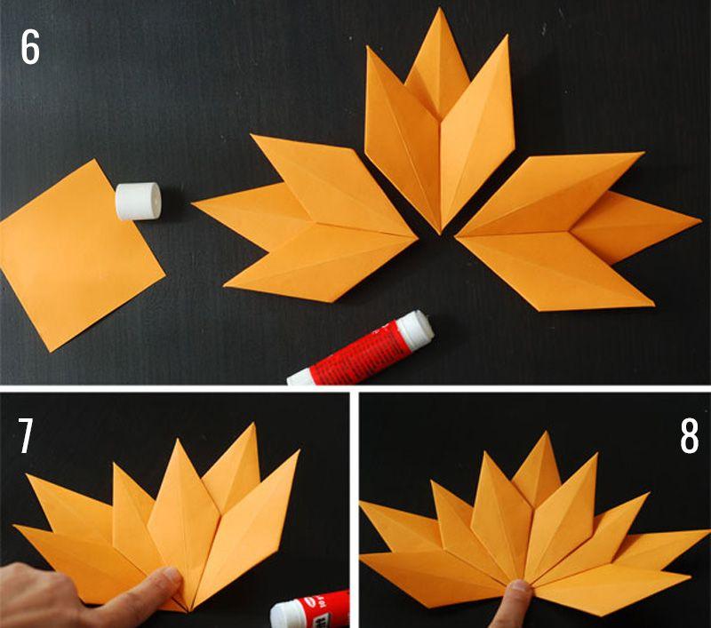 листья оригами